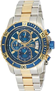 Invicta Mens Quartz Watch, Analog Display and Stainless Steel Strap