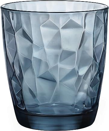 Diamond Copo para Whisky Bormilo Rocco Azul 500 ml