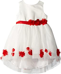 Matte Satin Dress w/ Flowers (Infant)