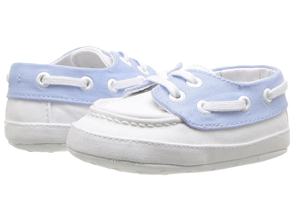 Janie and Jack Boat Shoe (Infant) (White/Blue) Boy