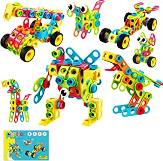 Cordova Geometry Building Block Set STEM Toys, 115 Piece Building Toys Educational Toys for Boys and Girls Ages 3 4 5 6 7 ...