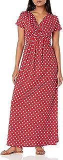 Star Vixen womens Petite Short Sleeve Twist-Front Maxi Dress Dress