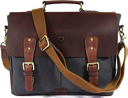 Messenger Bag for Men and Women   Shoulder Bag with Multiple Compartments Zippered Pockets School Bag
