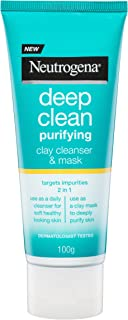 Neutrogena Deep Clean Purifying Clay Cleanser and Mask, 100g