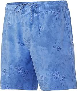 "HUK Men's Playa 17"" Lightweight Elastic Waistband SPF Quick-Drying Fishing Shorts"