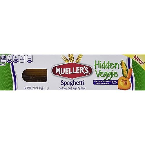 Mueller's Hidden Veggie Pasta, Spaghetti, 12 Ounce (Pack of 6)
