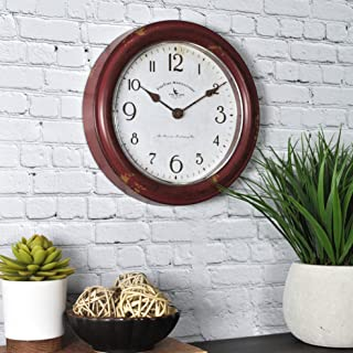 FirsTime & Co. FirsTime Red Patina Wall Clock, 8.5