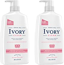 (2 pack) Clean Water Lily Body Wash, 30 oz - 100% Gluten, Paraben, And Phthalate Free, Rich, Refreshing Lather That Rinses Clean