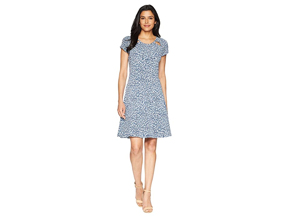 MICHAEL Michael Kors Collage Floral Dress (True Navy/Light Chambray) Women