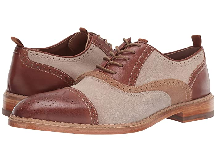 1920s Boardwalk Empire Shoes JM EST. 1850 Chambliss Cap Toe Tan Multi Mens Shoes $139.99 AT vintagedancer.com