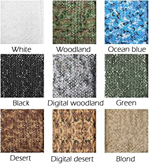 Tencen Dual Mesh Custom Camouflage net for Hunt Blind Decor Courtyard Sunshade Photo Camp Fish Farm Factory Shelter Car Concealment Party Exhibit Backdrop Paintball Curtain Ceiling Fence Canopy Cover