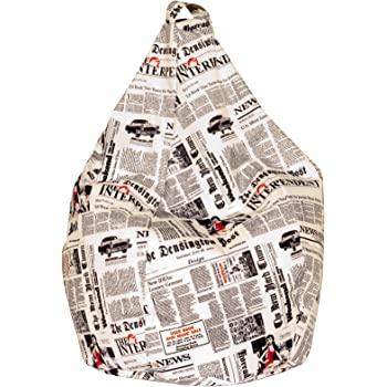 13Casa Mat: Nylon. Poltrona sacco Newspaper A1 Col: Fantasia Dim: 70x70x110 h cm