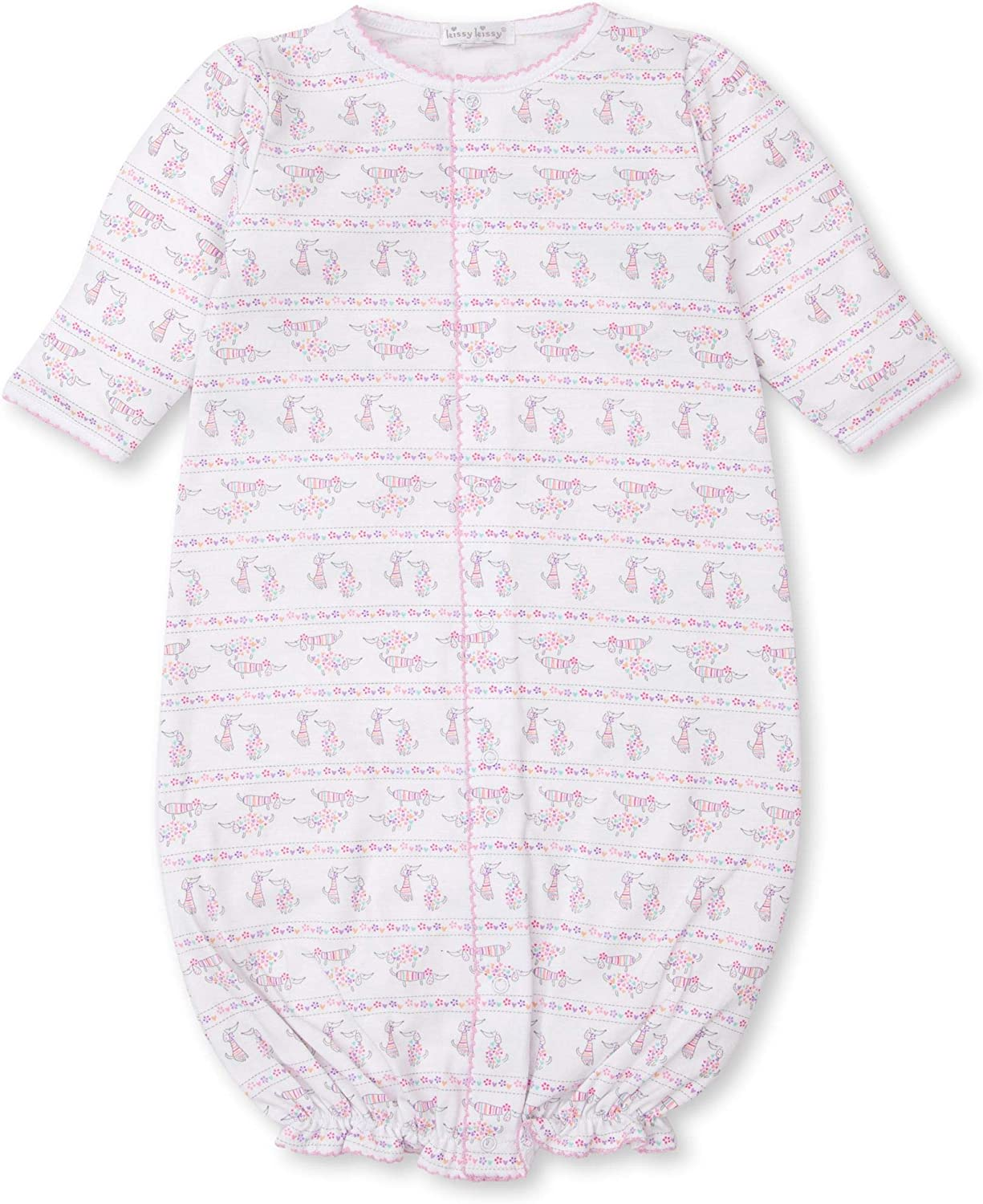 Kissy Kissy Baby-Girls Infant Dachsund Dears Print Convertible Gown