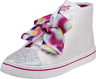 girls silver glitter sneakers