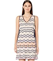 M Missoni - Sleeveless Short Dress in Zigzag Stitch