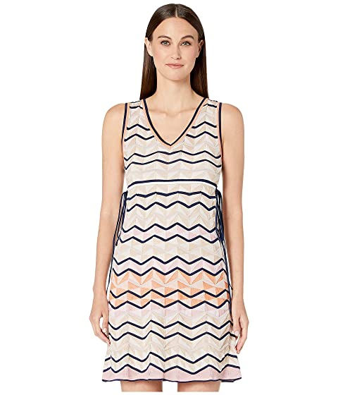 M Missoni Sleeveless Short Dress in Zigzag Stitch