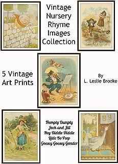 Set of 5 Nursery Vintage Rhyme Wall Art Humpty Dumpty