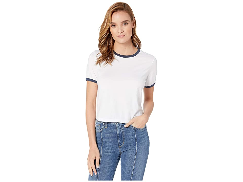 Image of AG Adriano Goldschmied Coney Tee (True White/Sodalite Blue) Women's Clothing