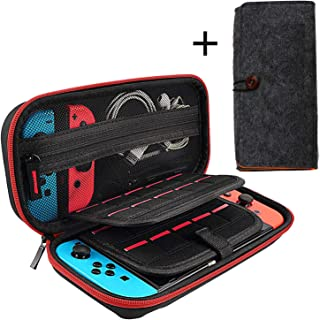 Compatible with Switch Carrying Case for Nintendo Switch, Protective Hard Shell Portable Travel Carrying Storage Case Pouch for Nintendo Switch Console and Accessories,20 Games Cartridges