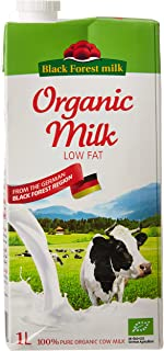 Black Forest Milk 100% Organic Low Fat Cow Milk, 1 Litre