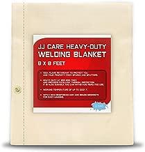 [PREMIUM] 8x8 ft Heavy Duty Welding Blanket [850GSM Thick] Fiberglass, Fire Retardant Welding Curtain, Weld Blanket, Welding Shield, Fire Blanket - JJ CARE