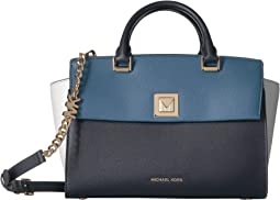 Sylvia Medium Top Zip Satchel