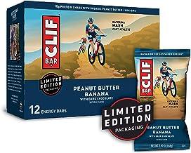 CLIF BAR - Energy Bar - Peanut Butter Banana with Dark Chocolate (2.4 Ounce Protein Bar, 12 Count)