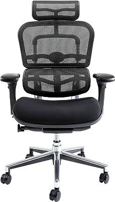 エルゴヒューマン ベーシック オフィスチェア ブラック ヘッドレスト付き エラストメリックメッシュ モールドウレタン座面 ergohuman BASIC EH-HBM KM-11