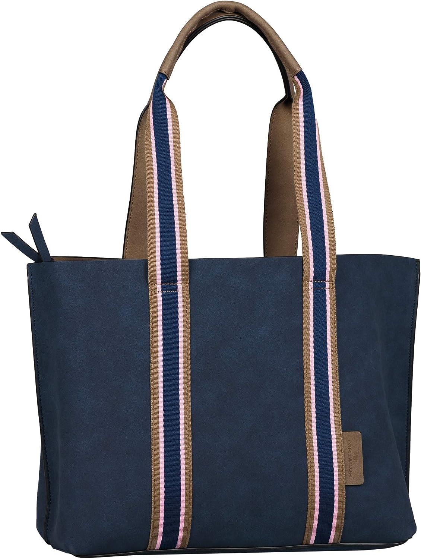 Tom Tailor Acc Damen Danja Shopper Blau L Schuhe Handtaschen