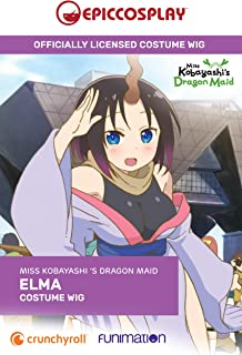 Epic Cosplay's Miss Kobayashi's Dragon Maid Cosplay Wig: The Elma (Short Black, Purple Tipped Cosplay Wig)
