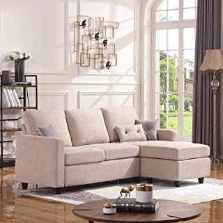 Amazon.com: Beige - Sofas & Couches / Living Room Furniture ...
