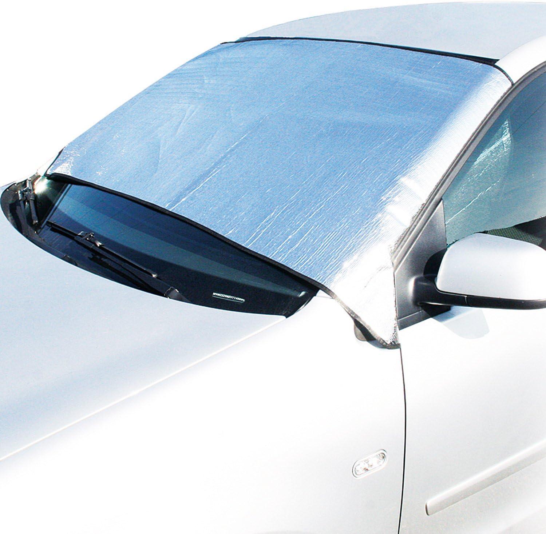 Cartrend 70101 Alu Frontscheibenabdeckung Für Vans Für Sommer Und Winter Auto
