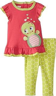 Nuby Baby Girls' 2 Piece Legging Set Baby Turtle