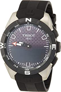 Tissot Mens T-Touch Expert Solar II Mens Silicone Watch Titanium T1104204705101
