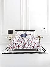 Kate Spade New York Blossom King Duvet Set Bedding, White/Red/Pink