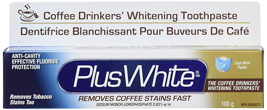 メタルライン現金政府Plus White, The Coffee Drinkers' Whitening Toothpaste, Cool Mint Flavor, 3.5 oz (100 g)