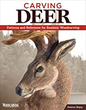 Carving Deer: Patterns and Reference for Realistic Woodcarving (Fox Chapel Publishing) Guide to Eyes, Noses, Ears, Feet, Texture, Color, Tools, and More, with a Step-by-Step Buck Practice Project