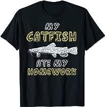 My Catfish Ate My Homework Fisher Mudcat Kid Back To School T-Shirt