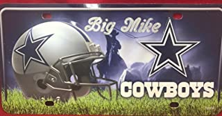 Mirror Mania Dallas Cowboys Personalized License Plate Free Engraved Personalized Custom Wall Sign Football NFL License Plate, Super Sharp Graphics and Design, Car Wash Safe, Indoors or Outdoors