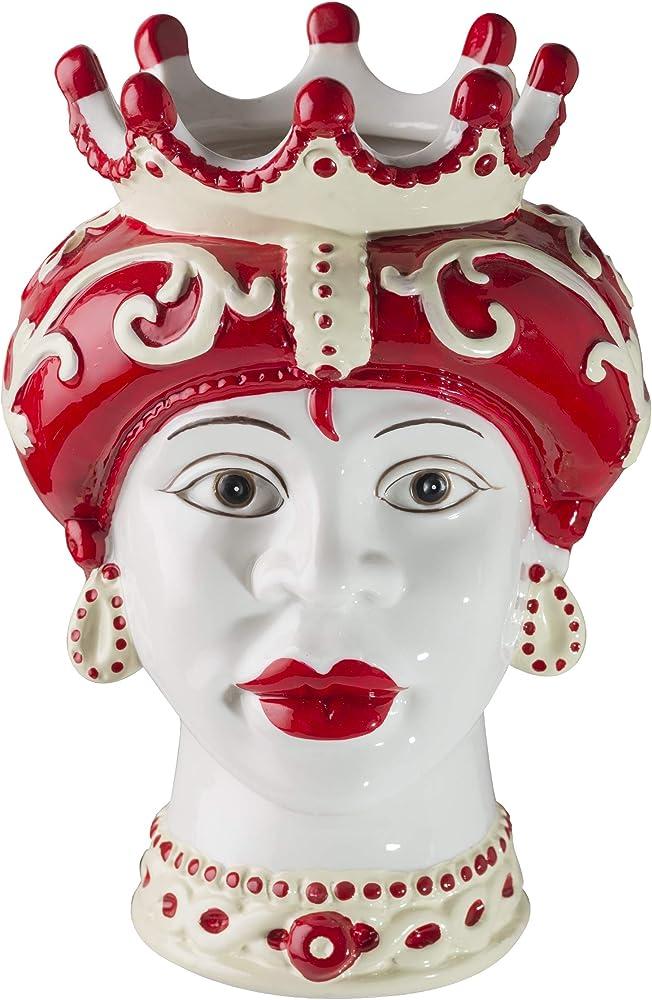 Montemaggi ,vasi in  porcellana,stile siciliano,teste di moro,la regina