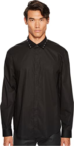 Versace Collection - Metallic X Applique Button Down