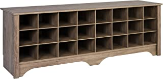 Prepac DSS-6020 24 Pair Shoe Storage Cubby Bench, Drifted Gray