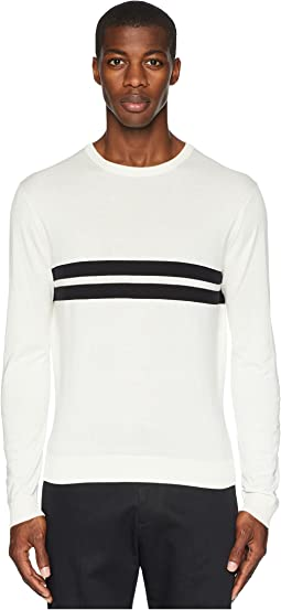 Double Stripe Crew Neck T-Shirt