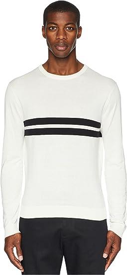 Double Stripe Crew Neck T-Shirt