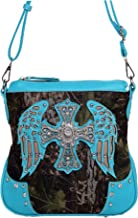 Western Cross Wings Camouflage Cross Body Handbag Concealed Carry Purse Country Women Single Shoulder Bag