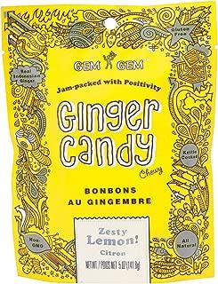 Gem Gem Ginger Candy Chewy Ginger Chews (Lemon, 5.0oz, Pack of 1)