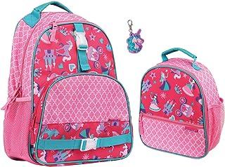 Stephen Joseph Girls Princess Backpack and Lunch Box with Unicorn Zipper Pull