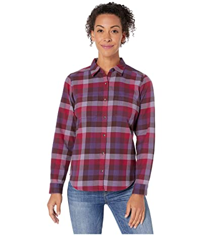 Royal Robbins Lieback Flannel Long Sleeve (Rhubarb) Women