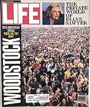 Life Magazine August 1989 20th Anniversary Woodstock, Diane Sawyer, Bird's-Eye Views of Kenya, Furor over American Flag, Images of Pele