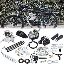 Samger Samger 2 tiempos Kit Motor de Bicicleta Gas Motor Kit de Conversión de Bicicleta(Plata,50CC)